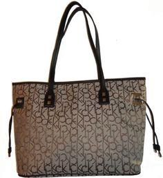 Calvin Klein Women's Purse Handbag Signature Tote Khaki/Brown « Xquisite Beauty