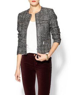 Tweed Zip Jacket Product Image