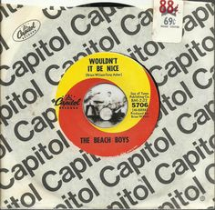 THE BEACH BOYS Wouldnt It Be Nice SURF GROUP ROCK 45 RPM RECORD #SurfHotRod