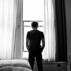 Room with a view. #sanfrancisco #hotelroom #view #blackandwhite #black&white #window #view ©Kimberly Adamis/Sonic Bliss Productions LLC
