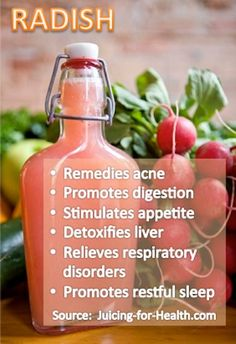 - 1 carrot - 1 green apple - 2 oranges - 2-3 small radish - ¼ lemon  Radish juice is effective for relieving respiratory disorders, including cold, flu, cough, asthma, bronchitis and many other lung problems.   www.onedoterracommunity.com   https://www.facebook.com/#!/OneDoterraCommunity