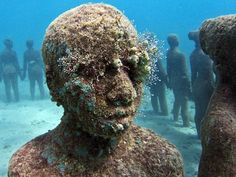 Visitors to a national park in Cancun could soon come face-to-face with life-sized sculptures in human form fixed in the seabed, as plans to create what could be the world's largest underwater museum start to become a reality.