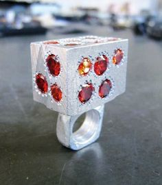 Karl Fritsch ring - Bague  Argent oxydé, rubis - EXPO  Salute to Pinton Solidor -