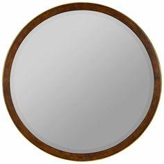 "Daniel Mirror - 34"", $238, wood finish/gold accent"