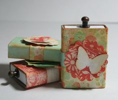 Bursts of Creativity: Week of Dollar Store Crafts - Matchboxes