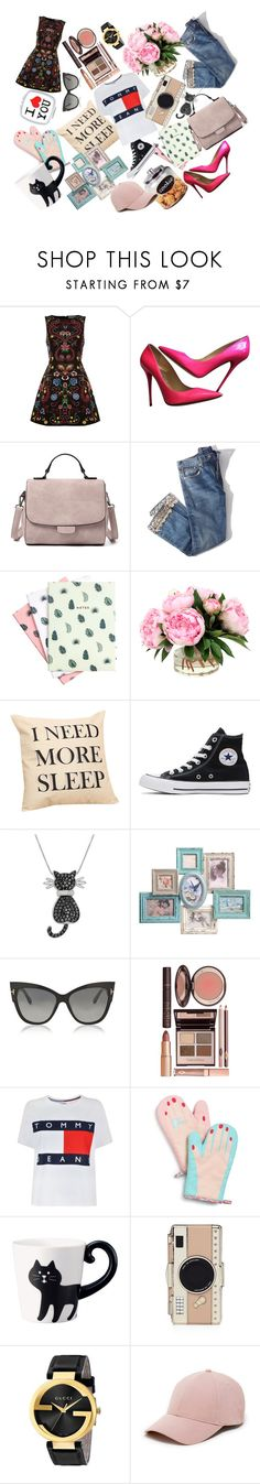 """1"" by elyagilyova on Polyvore featuring Alice + Olivia, Jimmy Choo, Brock Collection, Hadron Epoch, Converse, Amanda Rose Collection, Tom Ford, Charlotte Tilbury, Tommy Hilfiger and Celebrate Shop"