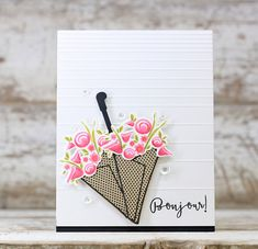 Bonjour! Card by Laurie Willison for Papertrey Ink (December 2015)