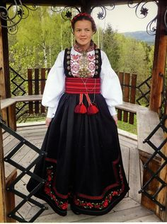 FolkCostume&Embroidery: Beltestakk and Gråtrøje, Costumes of East Telemark, Norway part 1 Traditional Fashion, Traditional Outfits, Rosemaling Pattern, Costumes Around The World, Folk Dance, Folk Costume, Dance Costumes, Norway, Bridal Dresses