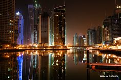 Dubai Marina by night. ANIA W PODRÓŻY travel blog and photography