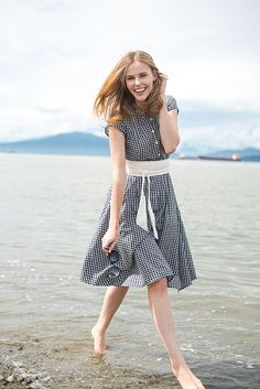 Miss USA 2011 Alyssa Campanella of The A List blog wearing J.Crew Gingham Dress