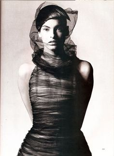 'Modern Magic at the Paris Couture' Linda Evangelista by David Sims for Harper's Bazaar March 1997