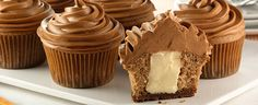 Gingerbread Cheesecake Cupcakes made with new limited edition #DuncanHines Gingerbread Frosting Creations!