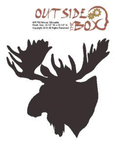 bear silhouette pattern | Moose Scroll Saw Silhouette Woodworking Pattern by OTB Patterns | eBay