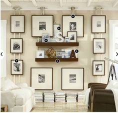 Boat cleat decor | Picture frames held with nautical rope and boat cleats. Ahhhmazing ...