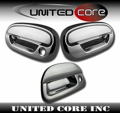 15-17 Ford F150 Triple Chrome 4 Door handle W//O Smart Key+Back Plate Lever Cover