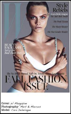 Cover: W magazine (September 2013) Photography: Mert & Marcus Model: Cara Delevingne
