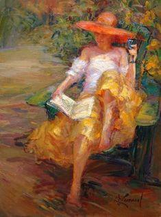 "Can you say ""Renoir""? Afternoon in the Garden ~ Diane Leonard Reading Art, Woman Reading, Renoir, Pics Art, Beautiful Paintings, Oeuvre D'art, Female Art, Book Art, Art Photography"