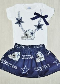 Rylo NFL Pittsburg Steelers 49ers dallas cowboys Patriots Greenbay Packers, Raiders Girls skirt outfit by RYLOwear, $32.00