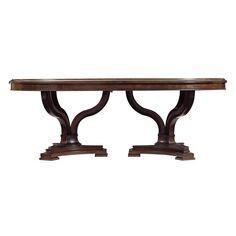 Stanley Avalon Heights Double Pedestal Table | from hayneedle.com