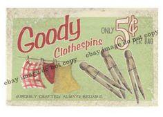 vintage clothespins