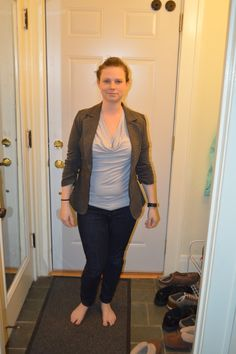 Cute blazer and incredibly comfortable, but it doesn't button up, ribs are too big because I think a size up would be too big everywhere else