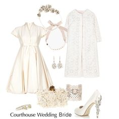 Courthouse Wedding, created by charlotte-shuann on Polyvore