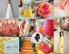 pink, orange and yellow