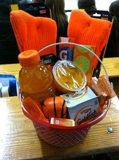 Basketball gift basket