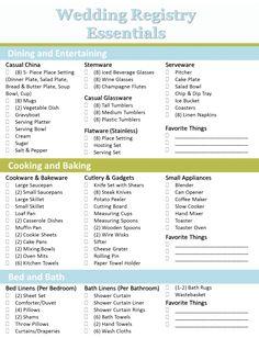 Crafting the Perfect Bridal Registry | Wedding Registry Checklist