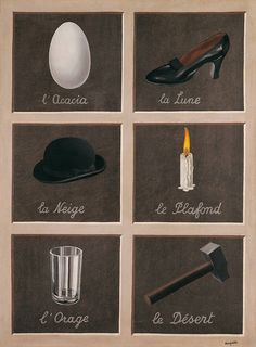 Magritte, The Key to Dreams, 1935