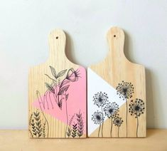 Diy And Crafts, Arts And Crafts, Paper Crafts, Wooden Painting, Name Wall Art, Painted Trays, Posca, Hand Art, Design Crafts