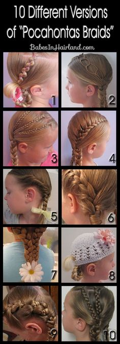 "No More ""Plain Braids"" -- 10 Different Pocahontas Braids from BabesInHairland.com #braids #tutorials #hairstyles"