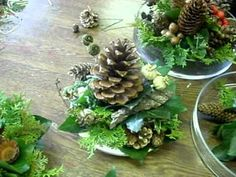 How To Design Christmas Candle Centerpieces - YouTube