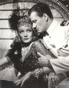 "Marlene Dietrich and John Wayne ""Seven Sinners"""