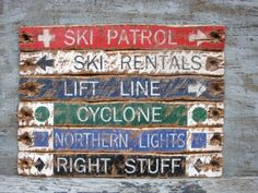 *********THIS LISTING IS FOR ONE CUSTOM SKI TRAIL SIGN***********  ((((((((((((Photo is for example purposes of the set you can