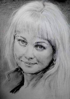 портрет рисунок карандашом. мои рисунки.