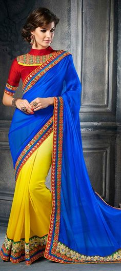 Embroidered Sarees, Georgette, Satin, Machine Embroidery