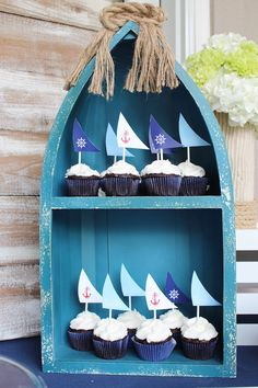 Nautical themed 1st Birthday Party