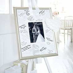 Love this idea, with our wedding photo in the middle