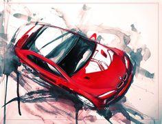 BMW watercolor sketch: