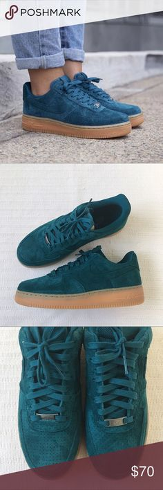 Women's Nike Air Force 1 '07 Suede Mid Sneakers Women's Nike Air Force 1 '07 Suede Mid Sneakers are made with genuine leather and textile upper for a comfortable fit. Style/Color: 749263-301  • Women's size 10  • NEW in box (no lid) • No trades •100% authentic Nike Shoes Sneakers