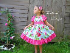 Festkleid Melody Einschulungskleid von krabbelkee collection by Feenland auf DaWanda.com