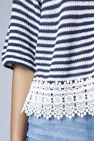 stripe top with lace - Google Search