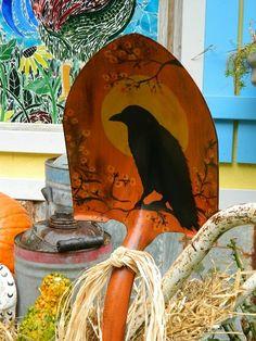 Dandi's colorful Fall garden vignette | Flea Market Gardening