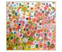"""first pinned says """"fun and color print! love this. Abstract flowers?""""  I say bacteria and mold growth on a bowl of abandoned lucky charms or fruity pebbles."""