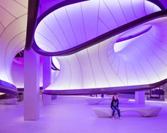 #ZahaHadid Architects, the just-opened #Mathematics #gallery at the @sciencemuseum in #London
