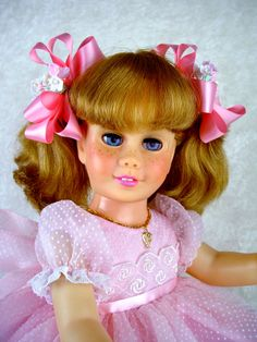 "Dress fts Chatty Cathy, Effanbee Katie, 18-20"" doll. Little Charmers Doll Desgn"
