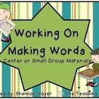 Inside this unit you will find materials for making words. The materials are created to be used with file folders in order to allow students to cre...