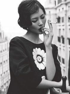 Liu Wen. Prada.
