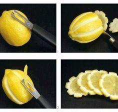 decorate lemon slices for lemonade or tea!